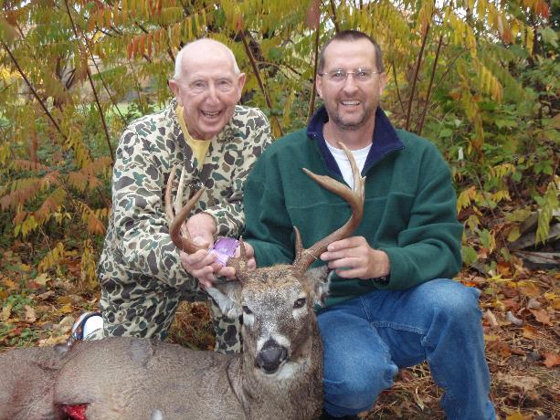 Mike and dad with their 2010 buck