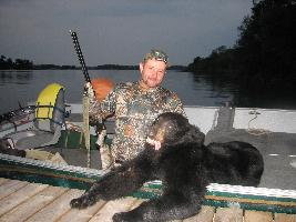 Chris from Nebraska and his black bear